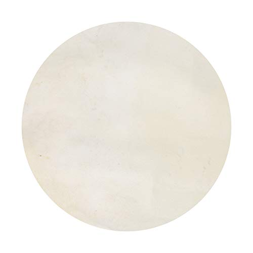 Yibuy Beige Goatskin Goat Skin Drums Head for Bongo Drums Replacement Parts