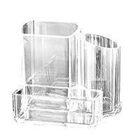 Acrylique Boite à Coton Tiges Holder Box Boîte de rangement pour cosmétiques Maquillage Transparent