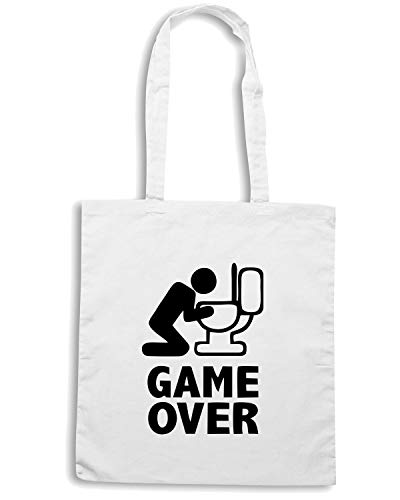 Shopper Bianca MAT0070 PUKE OVER GAME Borsa 4vqFYwxfY