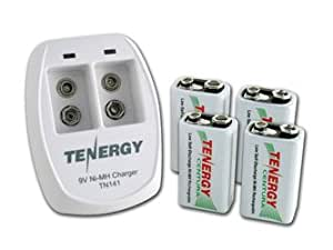 Amazon.com: Tenergy TN141 2 Bay 9V Smart Charger with 4
