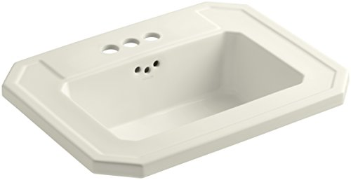 KOHLER K-2325-4-96 Kathryn Self-Rimming Bathroom Sink, Biscuit by Kohler