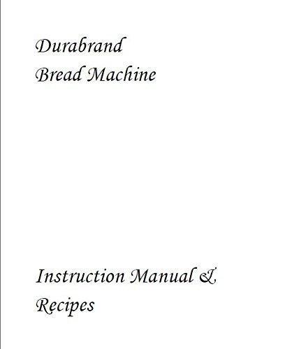 Durabrand Pan máquina eléctrica manual de instrucciones y recetas ...