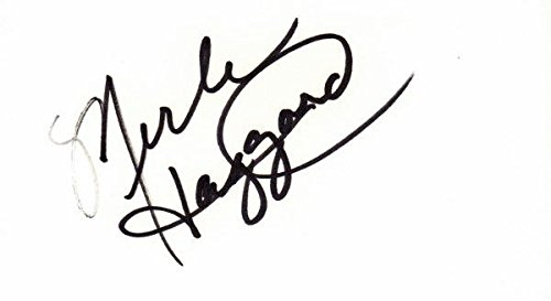 Merle Haggard Signed - Autographed 3x5 inch Index Card - Legendary Country Music Singer - Deceased 2016 - Guaranteed to pass or JSA - PSA/DNA Certified (Index Autographed Signed Card 3x5)