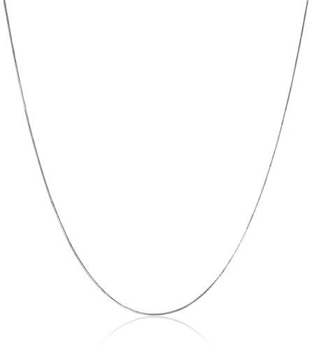 10k White Gold .60mm Solid Diamond-Cut Snake Chain Neckla...