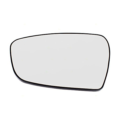 (Drivers Side View Mirror Glass w/Base Heated Replacement for 14-18 KIA Forte Sedan & Forte5 87611A7050)