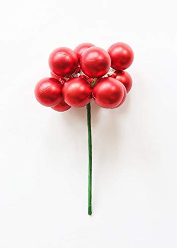 Pack of 12 Matte Red Bulb Christmas Ornaments - 1.2