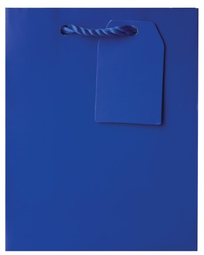 Jillson Roberts Bulk Small Gift Bags Available in 14 Colors, Royal Blue Matte, 120-Count (BST916) by Jillson Roberts