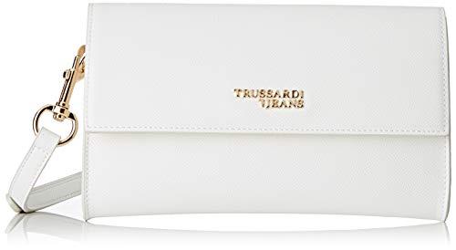 Trussardi Jeans Pochette légère T-easy, Borsa Tote Donna, Bianco (écru / blanc), 24x14x1 Cm (w X H L)