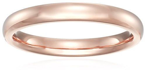 Standard Comfort-Fit 14k Rose Gold Wedding Band, 3mm