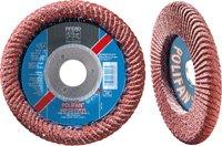"PFERD 67381 Polifan PFR Curve Radial Type Flap Disc, Ceramic Oxide, 4-1/2"" Diameter, 7/8"" Arbor Hole, 13300 rpm, 60 Grit"