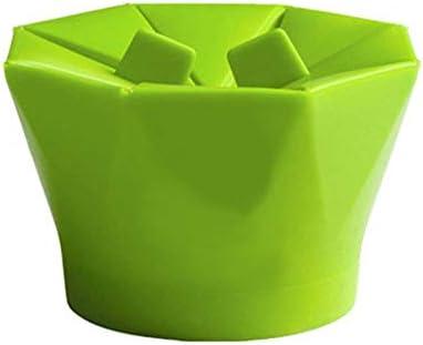 IBISHITAOXUNBAIHUOD Microondas de Silicona Máquina para Hacer Palomitas Popcorn Popper Hecho en casa Delicioso tazón de Palomitas de maíz Herramientas para Hornear Utensilios de Cocina Cubo DIY