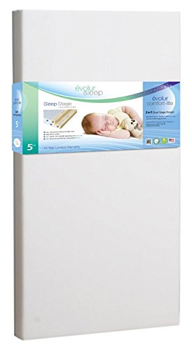 Evolur Sleep Dual Stage Comfort-Lite Foam Mattress, Silver Star, 5'' by Evolur