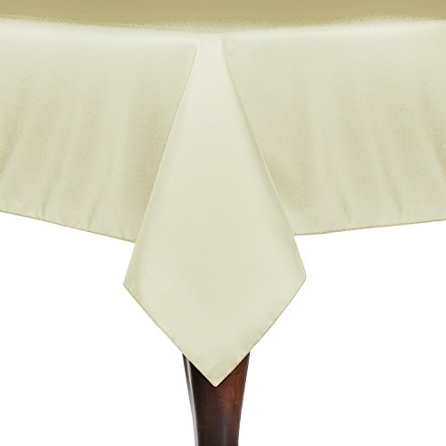 Ultimate Textile 72 x 72-Inch Square Polyester Linen Tablecloth Tan Beige - Beige Square Tablecloth