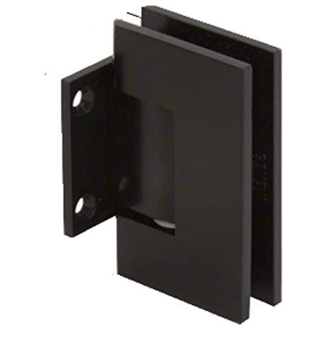CRL GEN074MBL Matte Black Geneva 074 Series Wall Mount Short Back Plate Hinge Crl Geneva 074 Series
