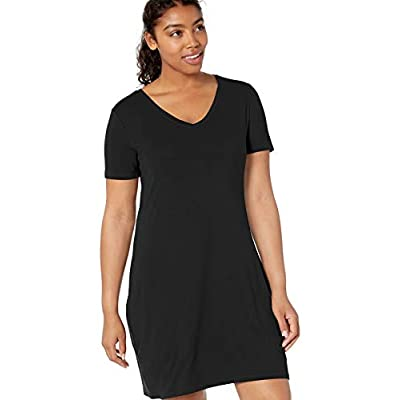 Brand - Daily Ritual Women's Jersey Short-Sleeve V-Neck T-Shirt Dress: Clothing