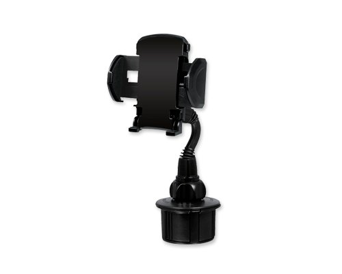 Macally MCUP 2nd Generation Adjustable Automotive Cup Holder for iPhone 6/ iPhone 6 Plus/ iPod/ Smartphones/ MP3/ GPS - Black