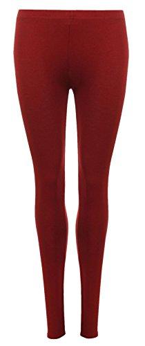 Burdeos de Pantalones moda 21 Llanura Negro nica Talla Mujer vq8qdPF