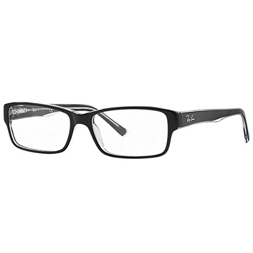 RAY BAN Authentic 5169 clear top black on transparent 2034 ,Designer Eyeglasses by Ray-Ban (Image #1)