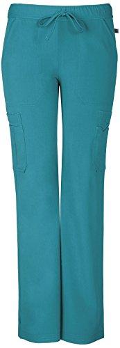 Sapphire Scrubs Women's Vienna Mid Rise Straight Leg Pant Large Teal Blue
