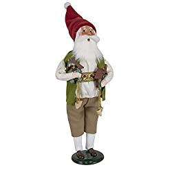 Byers' Choice Cuckoo Clock Santa Caroler Figurine from The Santa Collection #3196