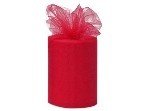 Wedding Tulle Roll RED Great Price 6in x 300ft (100 yards long) MCCTR3RED