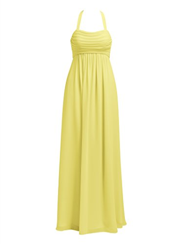 Dresses Alicepub Halter Chiffon Party Bridesmaid Long Evening Yellow Prom wqYwAvz