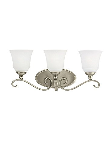 Sea Gull 44381EN-965 Parkview Vanity, 3-Light 27 Total Watts, Antique Brushed Nickel (965 Parkview 3 Light)