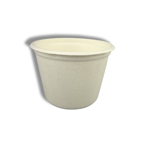 Stalkmarket 100% Compostable Sugar Cane Fiber Food Container, 4-Ounce sample cup, 1500-Count (Bagasse Cup)