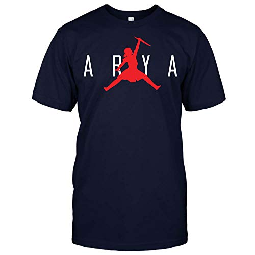 Game-of-Thrones Air Jordan Arya T-Shirt Hoodie Sweatshirt Tank Top for Men for Women (Unisex T-Shirt;Navy;4XL)