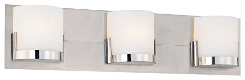 George Kovacs P5953 077 Convex 3 Light Bath Fixture Chrome Vanity Lighting Fixtures