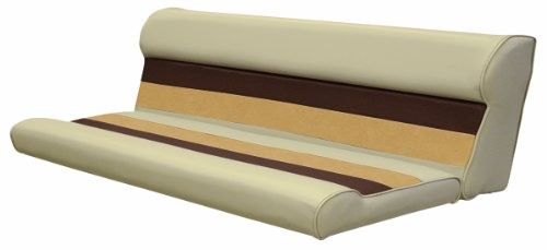 - Wise 55-Inch Cushion Only Pontoon Bench Seat, Sand/Chestnut/Gold
