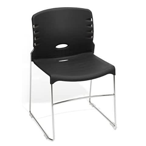 OFM 320-P0 Stack Chair with Plastic Seat and Back - Ofm Armless Stacking Chair