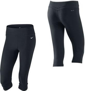 bcb7dbbf2b Nike Womens Dri-Fit Be Fast Black Capri 3/4 Tights: Amazon.co.uk ...