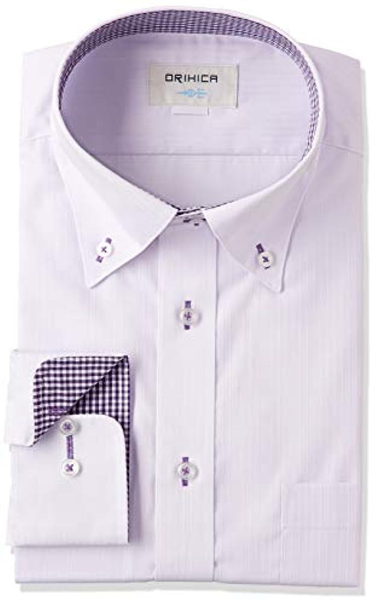 [해외] 오리히카 긴 소매 형태 안정 와이셔츠 방균방취 기능 첨부 와 선택할 수 있는 베리에이션 【와이드 컬러/버튼 다운】 맨즈