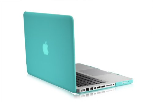 """TOP CASE - 2 in 1 - Ultra Slim Rubberized Hard Case Cover and Keyboard Cover for Old Generation Macbook Pro 13-inch 13"""" (A1278/with or without Thunderbolt) - Hot Blue"""