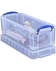 "Really Useful Box Plastic Storage Box, 6.5 Liters, 17 1/2"" x 7"" x 6 1/4"", Clear"