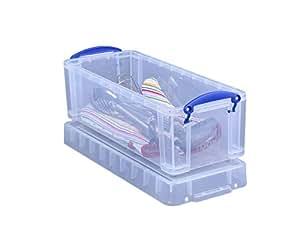 Really Useful - Caja plástica con tapa y asas (6,5 litros), transparente