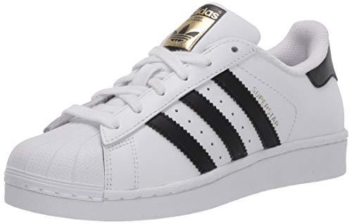 adidas Originals Kids' Superstar Sneaker, White/Core Black/Core White, 7