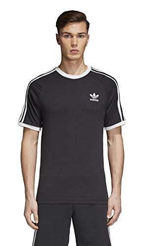 adidas Originals Men's 3-Stripes Tee,  Black, Medium (Adidas Shirt Futbol)