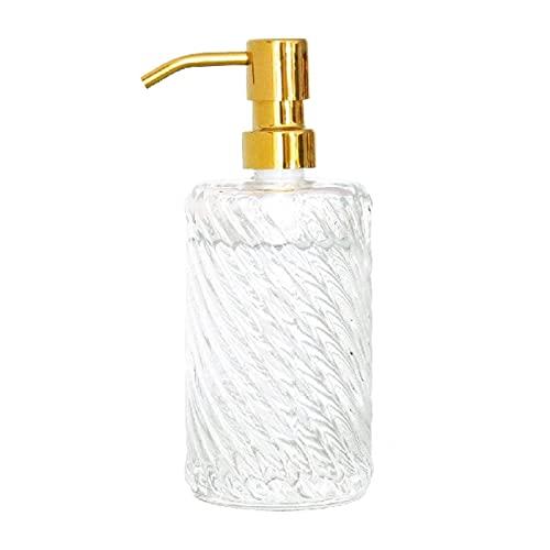 Zuinig Aanrecht zeep dispensers glas hand sanitizer fles met gouden roestvrijstalen pompkop, hervulbare vloeibare hand…