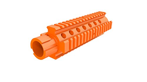(3D Printed M4 Barrel Extension for Nerf Models with an Interchangeable Barrel Compatible with N-Strike Stryfe Longshot Mediator Recon and More! - (Not an Official Nerf Product) (Orange) )