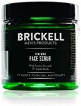 Brickell Men's Renewing Face Scrub for Men, Natural & Organic Exfoliating Facial Scrub - 2 oz