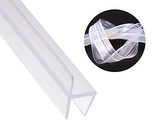 (Shower Door Seal Strip Frameless Weatherproof Door Seal Flexible Silicone Sweep for Door and Windows, Flexible Silicone Seal Fit for 3/8