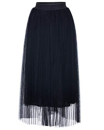 Jupes Noir De Vintage Cocktail Jupe Plisse Longue Femme Jupe gTwRqA