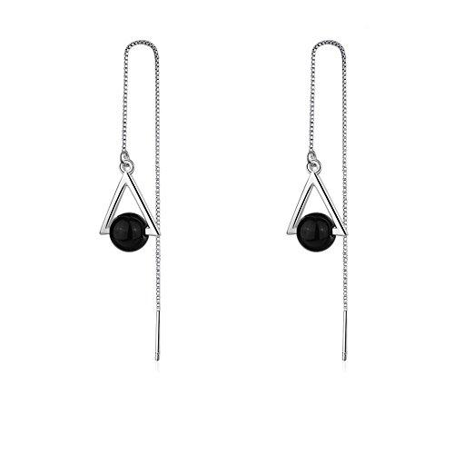 Diy Queen Of Hearts Costumes (Silver Agate Drop Dangle Earrings For Women)