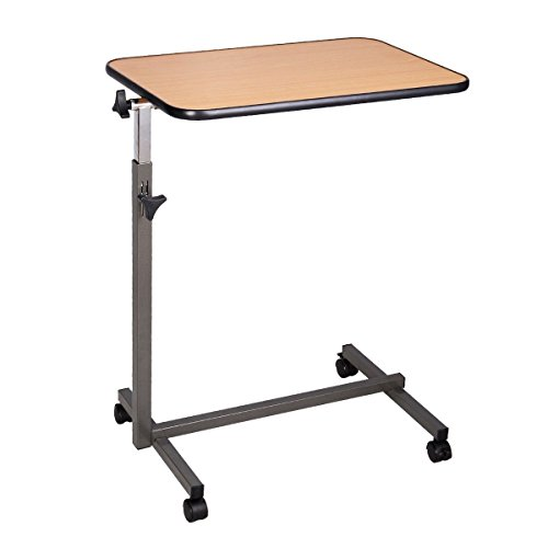 Super buy Overbed Rolling Table Over Bed Laptop Food Tray...