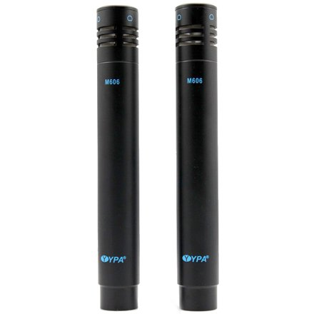YPA M606 PAIR Stereo Pencil Condenser Vocal Instrument Microphones black+black by YPA