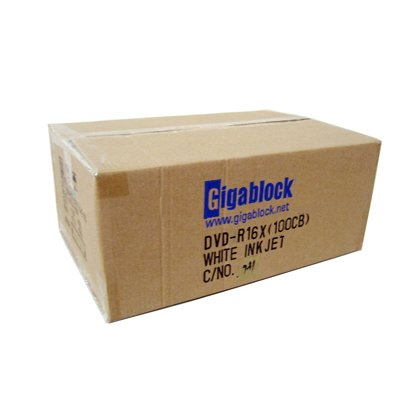 600pcs Gigablock DVD-R 16x 4.7GB 120Min White Inkjet Hub Printable Top