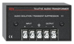 RDL TX-AT1S Audio Isolation Transformer