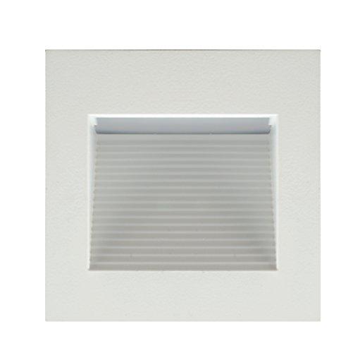 NICOR Lighting STQ-10-120-WH LED Square Step Light, White